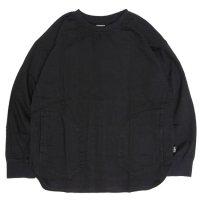 GO HEMP ゴーヘンプ|H/C TWILL 起毛 CREW PULL OVER (ブラック)(プルオーバー)