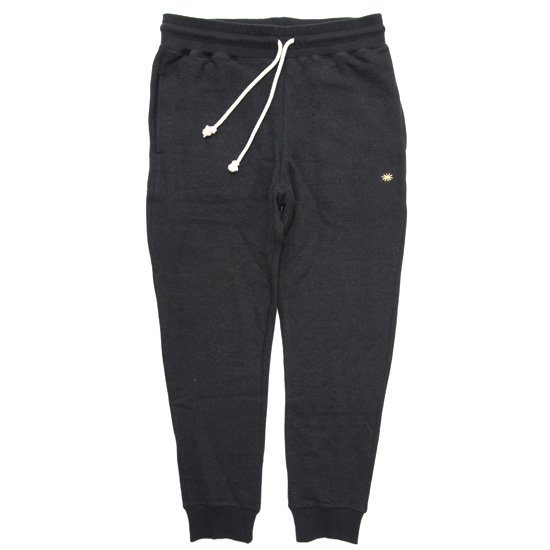 GO HEMP ゴーヘンプ|SLIM RIB SWEAT PANTS (ブラック)(スウェットパンツ)