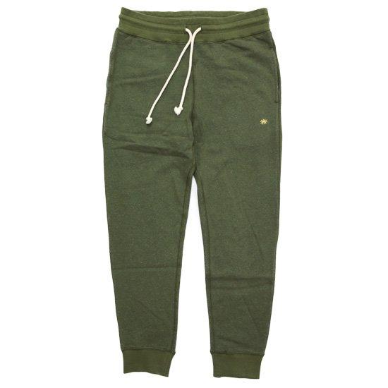 GO HEMP ゴーヘンプ|SLIM RIB SWEAT PANTS (ハーブグリーン)(スウェットパンツ)