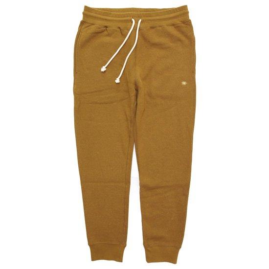 GO HEMP ゴーヘンプ|SLIM RIB SWEAT PANTS (メープルブラウン)(スウェットパンツ)