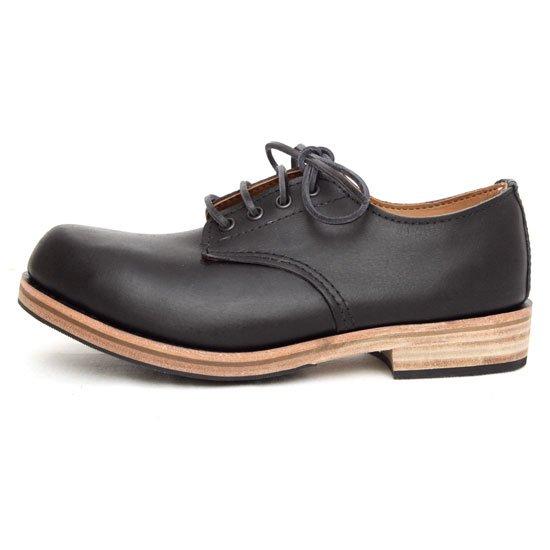 William Lennon ウィリアムレノン|#157 Hill Shoe (ブラックスムース)(ワークブーツ)