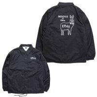KM4K カモシカ|OG COACH LOGO JACKET (ブラック)(カモシカ コーチジャケット)