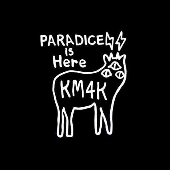 KM4K カモシカ|STICKER ステッカー (ホワイト)(屋外対応素材)