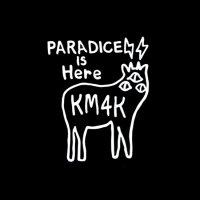 KM4K カモシカ|おっきな STICKER ステッカー 大 Large 白 (ホワイト)(屋外対応素材)