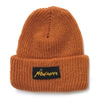 Nasngwam ナスングワム|80's LOGO KNIT CAP (オレンジ)(ニット帽 ワッチキャップ)