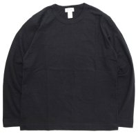 BETTER ベター|MID WEIGHT CREW NECK L/SL TEE (ブラック)(無地 ロンTEE)