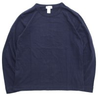 BETTER ベター|MID WEIGHT CREW NECK L/SL TEE (ネイビー)(無地 ロンTEE)