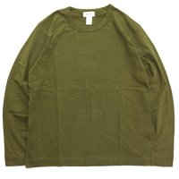 BETTER ベター|MID WEIGHT CREW NECK L/SL TEE (オリーブ)(無地 ロンTEE)