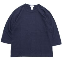 BETTER ベター|MID WEIGHT CREW NECK 3/4 TEE (ネイビー)(無地 七分袖TEE)