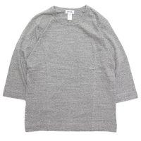 BETTER ベター|MID WEIGHT CREW NECK 3/4 TEE (グレイメランジ)(無地 七分袖TEE)