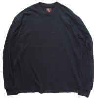 Phatee ファティ|LINE PATCH L/S TEE (ブラック)(袖プリ ロンTEE)