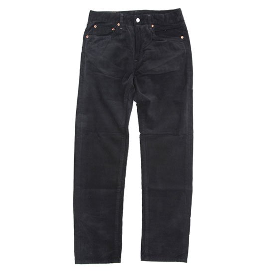 GO WEST ゴーウェスト|ANTIQUE CORDUROY CARROT FIT 5PK PANTS (ブラック)(テーパードパンツ)