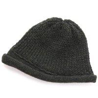 remilla レミーラ|変形鹿の子ロールニット帽 (カーキ杢)(カノコニット)