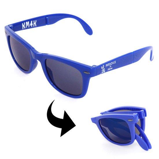 KM4K カモシカ PARADICE GLASS (ブルー)(折りたためるサングラス)