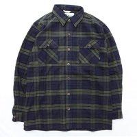 A HOPE HEMP アホープヘンプ|Hemp Flannel Check Shirts (グリーン)(ヘンプコットン シャツ)