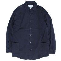 senelier セネリエ|F.O.B SHIRT (インディゴ)(長袖シャツ 羽織り)
