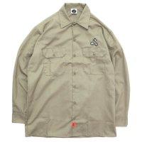 KM4K カモシカ|WORK SHIRT (カーキ)(ワークシャツ)
