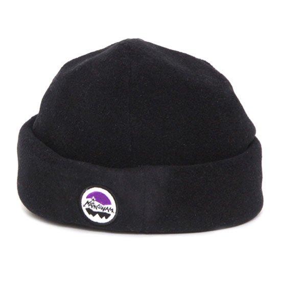 Nasngwam ナスングワム|YOSEMITE FLEECE CAP (ブラック)(ロールキャップ)