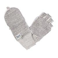 kepani ケパニ|Saguaro-POP 裏起毛スウェットミトン (ライトグレイ)(スマホも使える手袋)