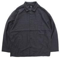 remilla レミーラ アーカイブ|H24 モカシャツ (チャコール)(開襟シャツ)