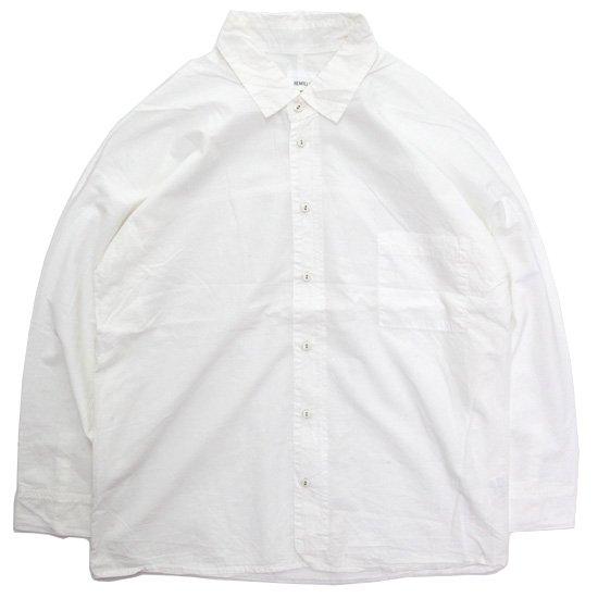 remilla レミーラ アーカイブ H25 ドット ドルマン 九分シャツ (ホワイト)(九分袖 シャツ)