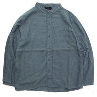 remilla レミーラ アーカイブ|H25 ペントシャツ (ブルーグレイ)(スタンドカラーシャツ)