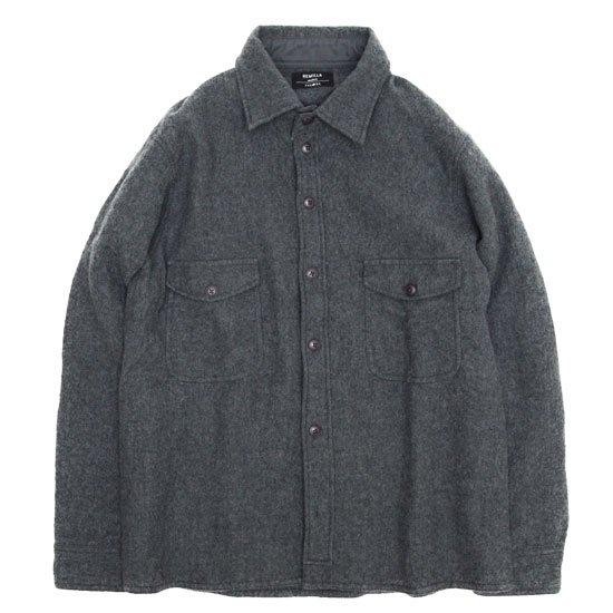 remilla レミーラ アーカイブ|H27 フラップシャツ (グレイ)(ウールシャツ)