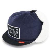 KM4K カモシカ|CAP 5 (ネイビー)(耳あて付きキャップ)