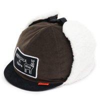KM4K カモシカ|CAP 5 (ブラウン)(耳あて付きキャップ)
