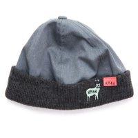 KM4K カモシカ|RIB CAP (グレイ)(ビーニー ワッチキャップ)