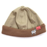 KM4K カモシカ|RIB CAP (タン)(ビーニー ワッチキャップ)