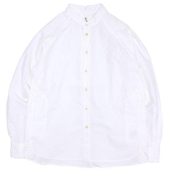 HiHiHi ひひひ|ゴデシャツ (オフホワイト)(スタンドカラーシャツ)