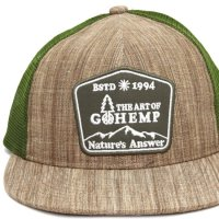 GO HEMP ゴーヘンプ|Tree Logo MESH CAP (ブラウン)(メッシュキャップ)