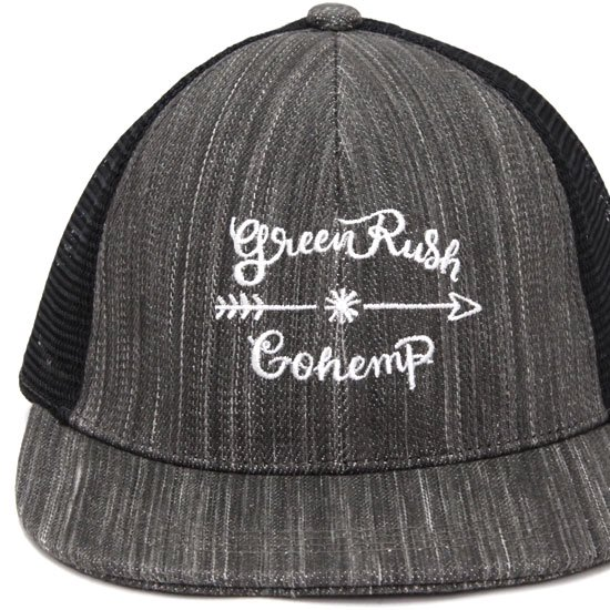 GO HEMP ゴーヘンプ|Green Rush MESH CAP (チャコール)(メッシュキャップ)