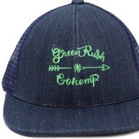 GO HEMP ゴーヘンプ|Green Rush MESH CAP (ネイビー)(メッシュキャップ)