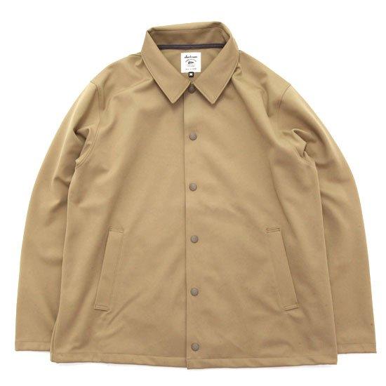 Jackman ジャックマン|JM8755 Jersey Coach Jacket (ベージュ)(ジャージコーチジャケット)