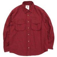 Nasngwam ナスングワム|WEED SHIRTS (レッド)(ネルシャツ)