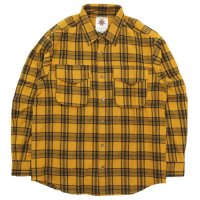 Nasngwam ナスングワム|WEED SHIRTS (イエロー)(ネルシャツ)