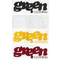 GREEN CLOTHING グリーンクロージング|LOGO STICKER ロゴ ステッカー 小 SMALL (屋外対応素材)