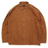 Phatee ファティ|CAMP COLLAR SHIRTS (クレイ)(ネルシャツ)