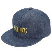 GO WEST ゴーウェスト|10.5oz HIGH HIKES CAP (ブルー)(ハイハイクス キャップ)