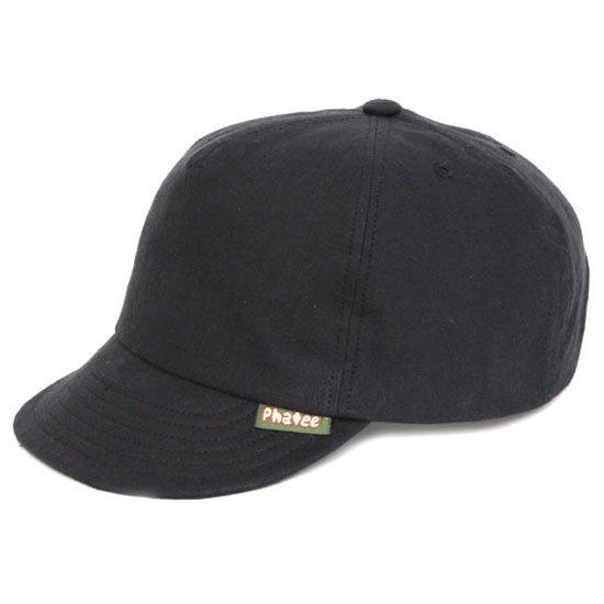 Phatee ファティ|HEMP CAP (ブラックフラット)(ヘンプキャップ)