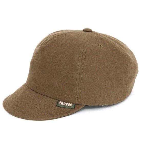 Phatee ファティ HEMP CAP (ブラウンフラット)(ヘンプキャップ)