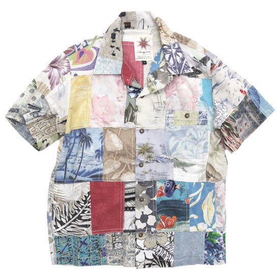 Nasngwam ナスングワム|ALOHA S/S SHIRTS (S-1)(リメイク アロハシャツ)