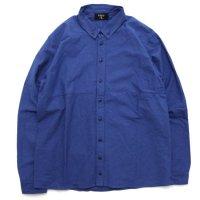 remilla レミーラ|オックスポートシャツ (ブルーインディゴ)(長袖シャツ)