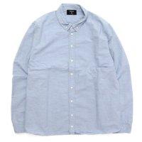 remilla レミーラ|オックスポートシャツ (ライトインディゴ)(長袖シャツ)