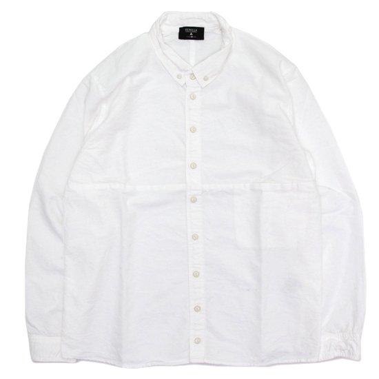 remilla レミーラ|オックスポートシャツ (ホワイト)(長袖シャツ)