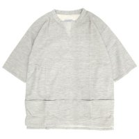 senelier セネリエ|Y WALLET OVER SHIRTS (グレイ)(五分袖スモック)