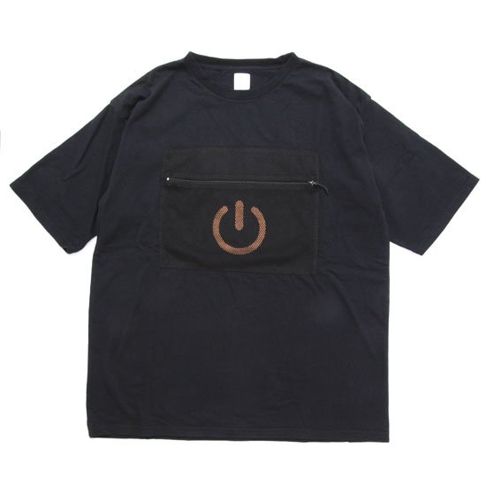 THE PARK SHOP ザ パークショップ GADGET POCKET TEE (ブラック)(Tシャツ)