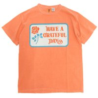 GO WEST ゴーウェスト|GRATEFUL DAY T-SHIRT (オレンジ)(プリントTEE)